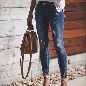 Kan Can USA Twist Hem Jeans